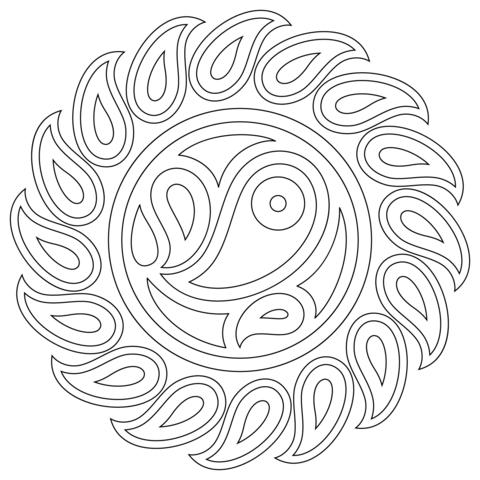 disegni da colorare mandala per bambini