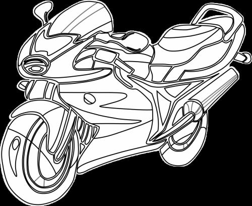 disegni da colorare moto