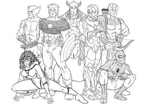 disegni da colorare on line Avengers