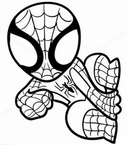 disegni da colorare on line spiderman