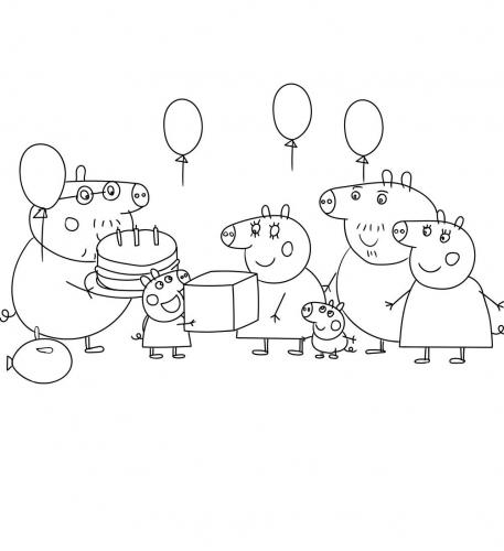 disegni da colorare online peppa pig