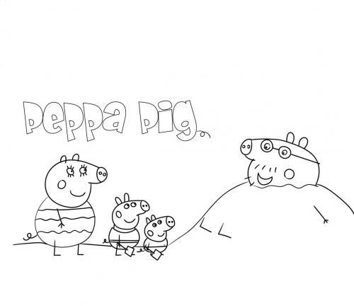 disegni da colorare peppa pig on line