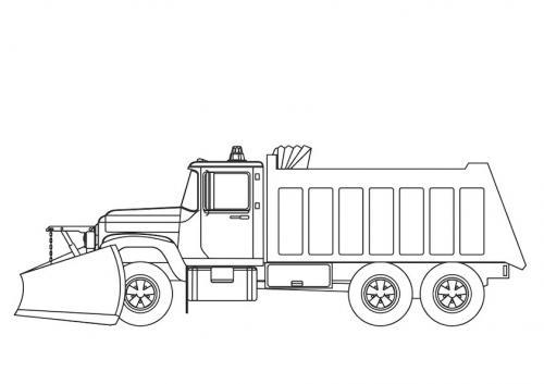 disegni da colorare per bambini camion