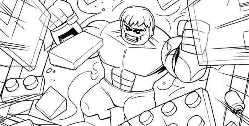 disegni da colorare per bambini hulk