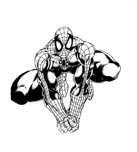 disegni da colorare per bambini spiderman