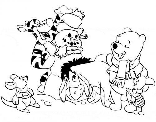 disegni da colorare per bambini winnie the pooh