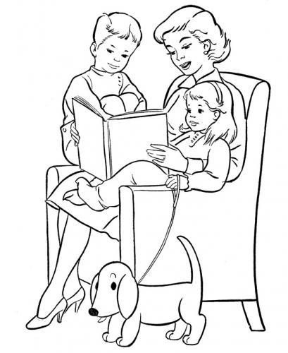 disegni da colorare per la festa della mamma