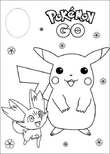 disegni da colorare Pikachu