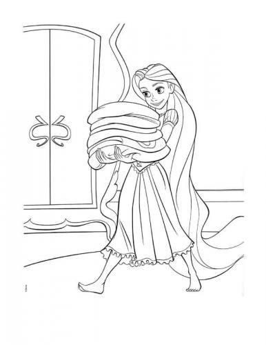 disegni da colorare rapunzel