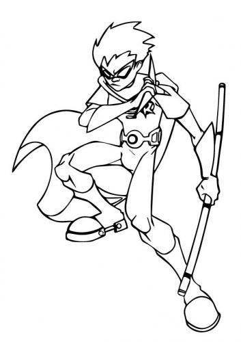 disegni da colorare Robin