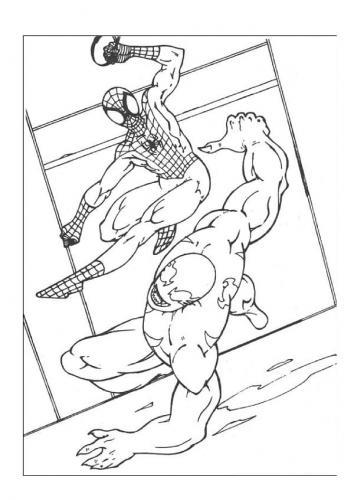 disegni da colorare spiderman venom