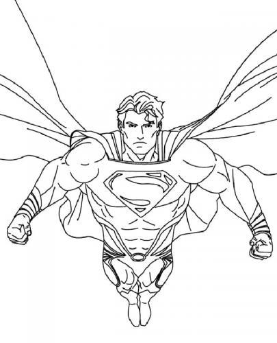 disegni da colorare Superman