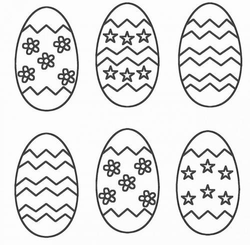 disegni da colorare uova di pasqua per bambini