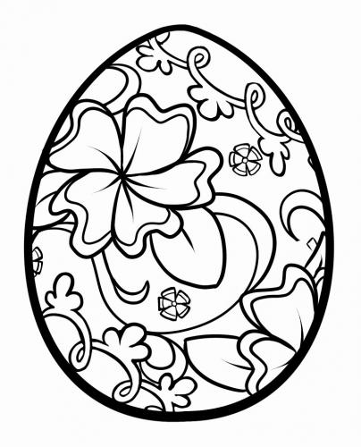 disegni da colorare uova di pasqua