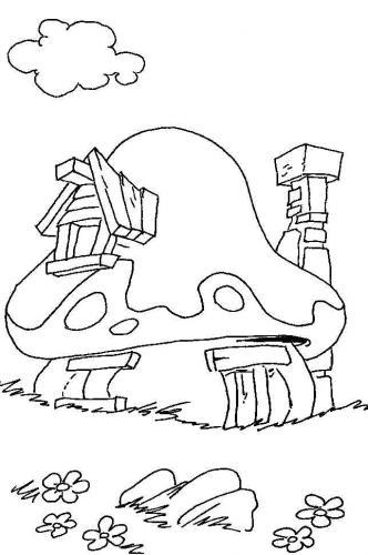 disegni da colorare villaggio dei puffi