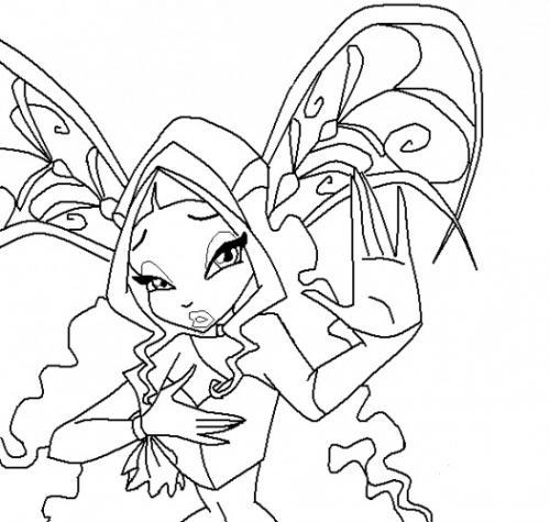 disegni da colorare winx Aisha