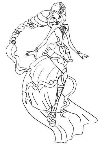 disegni da colorare winx Flora