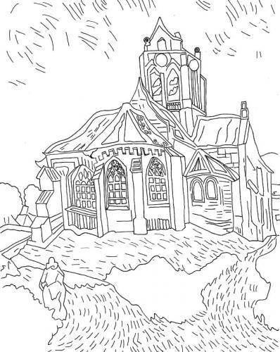 disegno casa nella natura