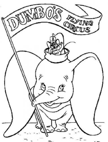 disegni da copiare Dumbo