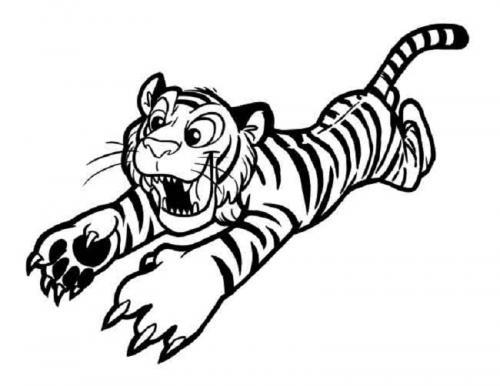 disegni da copiare tigre