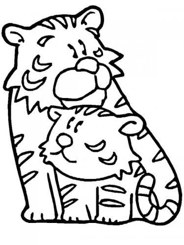 disegni da disegnare bambini tigri