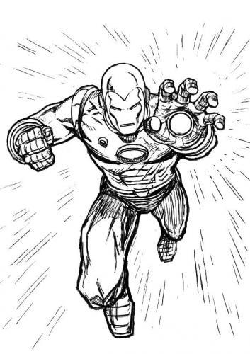 disegni da disegnare Iron Man