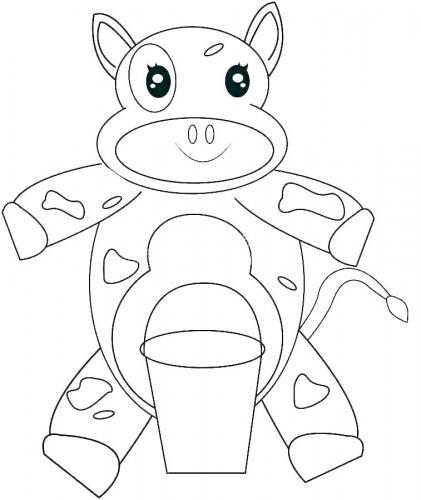 mucca con il latte