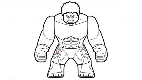 disegni da stampare di hulk