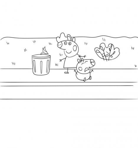 disegni da stampare di peppa pig