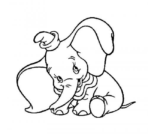 disegni da stampare Dumbo elefantino