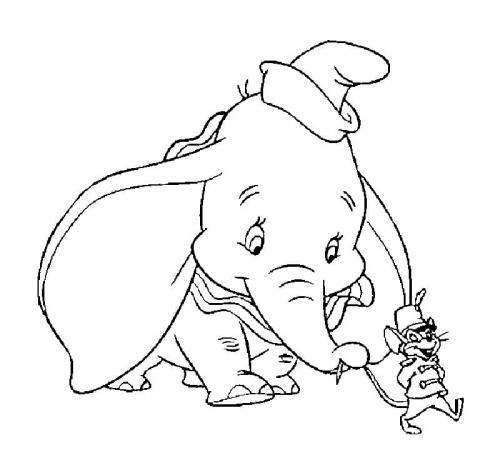 disegni da stampare Dumbo Timoteo