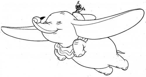 disegni da stampare Dumbo