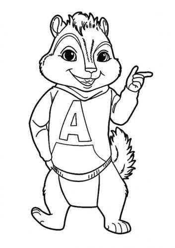 disegni da stampare e colorare Alvin Superstar scoiattoli
