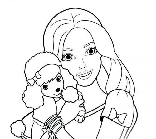 disegni da stampare e colorare di barbie