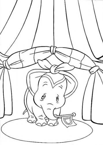 disegni da stampare e colorare dumbo circo