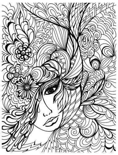 volto di donna tra i fiori