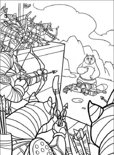 disegni da stampare Kung Fu Panda
