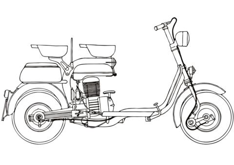 disegni da stampare moto