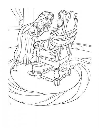 disegni da stampare rapunzel