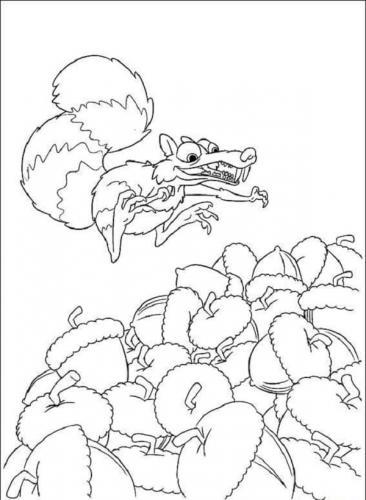 disegni da stampare scoiattoli de L'Era Glaciale