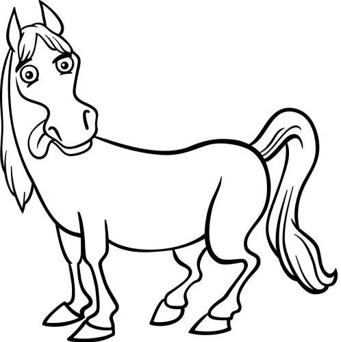 disegni dei cavalli da colorare