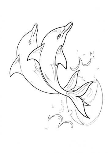 disegni dei delfini