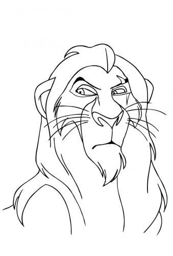 disegni del re leone