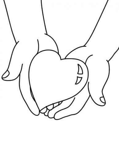 cuore tra due mani