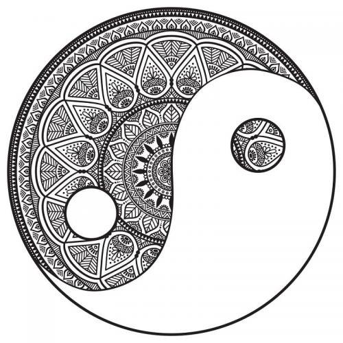 disegno Yin e Yang