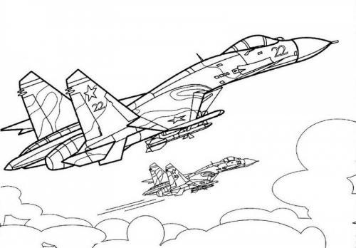 disegni di aerei militari