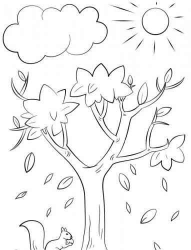 disegni di alberi senza foglie