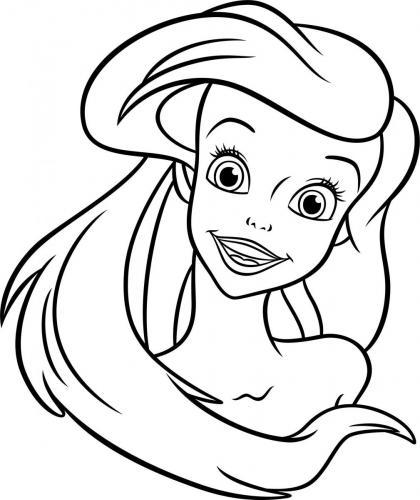 disegni di Ariel da colorare