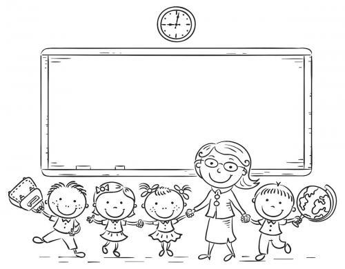 i bambini a scuola