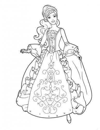disegni di barbie principessa da colorare
